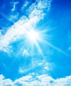 Einstrahlung der Sonne